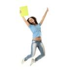 Femmina di salto Fotografie Stock