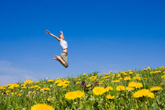 Femmina di salto Fotografia Stock Libera da Diritti