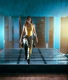 Femmina di salto di ballo di Zumba Immagine Stock Libera da Diritti