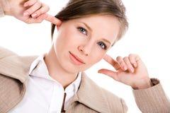 Femmina infastidetta Fotografia Stock