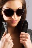 Femmina in occhiali da sole Immagine Stock Libera da Diritti