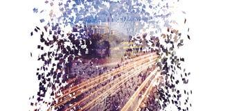 Femmina pixelated gray composito 3d royalty illustrazione gratis