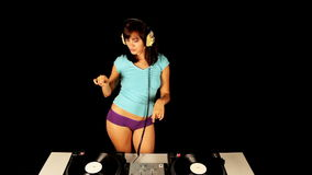 Femmina sexy DJ archivi video