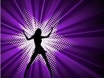Femmina sexy su starburst Immagine Stock Libera da Diritti