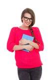 Femmina sorridente con un libro Fotografia Stock Libera da Diritti