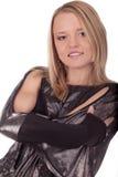 Femmina sorridente del ritratto giovane immagine stock libera da diritti