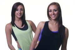 Femmine gemellate atletiche Immagini Stock