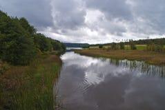 Femsjøen (five sea), river linked to the lake Royalty Free Stock Photo