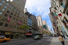 Femte ave, Manhattan, New York City Royaltyfri Bild