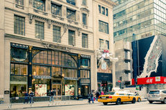 Femte ave NYC för Retro stil Royaltyfria Foton