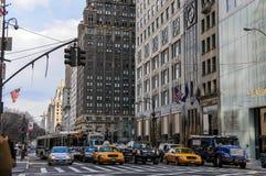 Femte aveny. New York Royaltyfria Foton