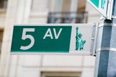Femte aveny, NYC Arkivbilder