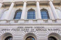 Femte strömkretsdomstol av vädjaner i New Orleans Arkivfoton