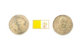 Femtio cent av Vatican City Arkivbild