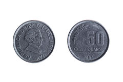 Femtio cent uruguayanmynt Royaltyfria Foton