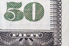 Femtio dollar räkning Arkivfoton