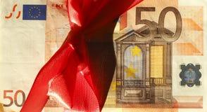 Femtio Euros Banknote Arkivbilder