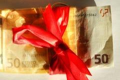 Femtio Euros Banknote Royaltyfri Fotografi