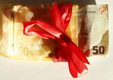 Femtio Euros Banknote Arkivfoton
