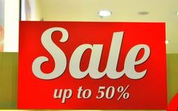 Femtio procent försäljning Arkivbild