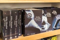 Femtio skuggor av Grey Books Fotografering för Bildbyråer