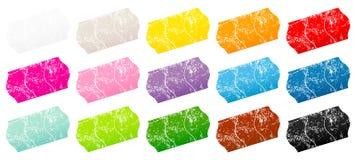 Femton delade skrapor för prislappklistermärkefärg vektor illustrationer