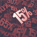 Femton procent rabatt Fotografering för Bildbyråer