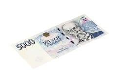 Femtusen tjeckiska kronor. Fotografering för Bildbyråer