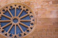 Fenêtre à l'église Image libre de droits