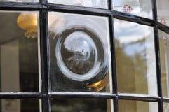 Fenêtre antique de boulangerie Images libres de droits