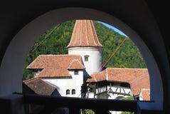 Fenêtre au château de son image stock