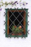 Fenêtre avec des barres Photo stock