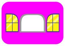 Fenêtre avec la couverture 2 des côtés illustration libre de droits