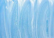Fenêtre avec la texture de fond de mousse de savon Photo libre de droits