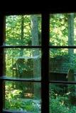 Fenêtre avec la toile d'araignées dans la vieille maison de Baza 20 Photo libre de droits