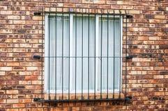 Fenêtre avec le cambrioleur Bars Image libre de droits