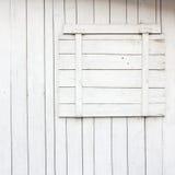 Fenêtre avec les abat-jour fermés Images libres de droits