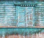 Fenêtre avec les abat-jour fermés du soleil Image libre de droits