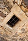Fenêtre barrée par fer Images libres de droits