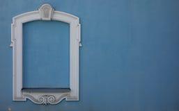 Fenêtre bleue Photo stock
