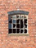 Fenêtre cassée Photos libres de droits