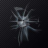 Fenêtre cassée de verrerie ou écran endommagé Photos stock