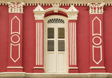 Fenêtre colorée d'héritage, Singapour photo stock