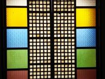 Fenêtre colorée de Capiz Image libre de droits