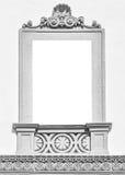 Fenêtre décorée d'une villa néoclassique avec l'espace de copie à l'intérieur image stock