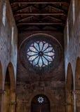 Fenêtre d'église en Toscane Photo libre de droits