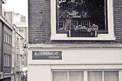 Fenêtre d'Amsterdam Photographie stock libre de droits