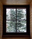 Fenêtre d'hiver Photo libre de droits
