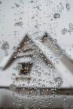 fenêtre d'icey dans Zakopane, Pologne Photos libres de droits