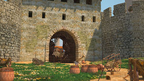 Fenêtre dans la forteresse Image stock